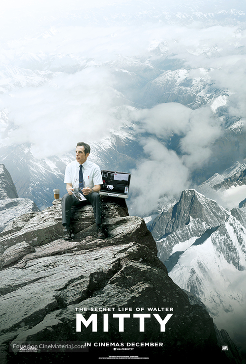The Secret Life of Walter Mitty - British Movie Poster
