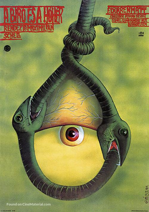 Der Richter und sein Henker - Hungarian Movie Poster
