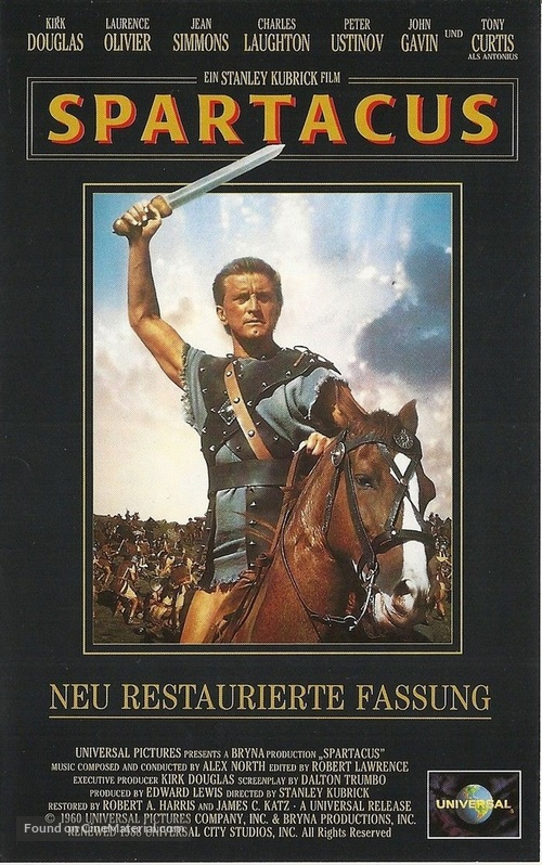 Spartacus - German VHS movie cover