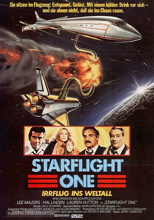 Starflight: The Plane That Couldn't Land - German Movie Poster