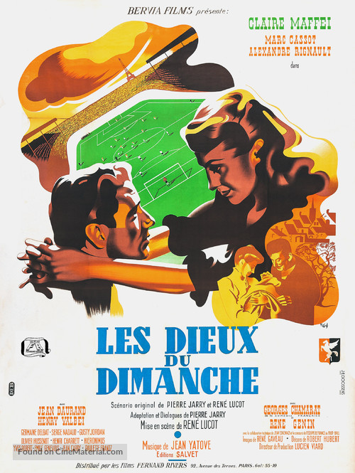Les dieux du dimanche - French Movie Poster
