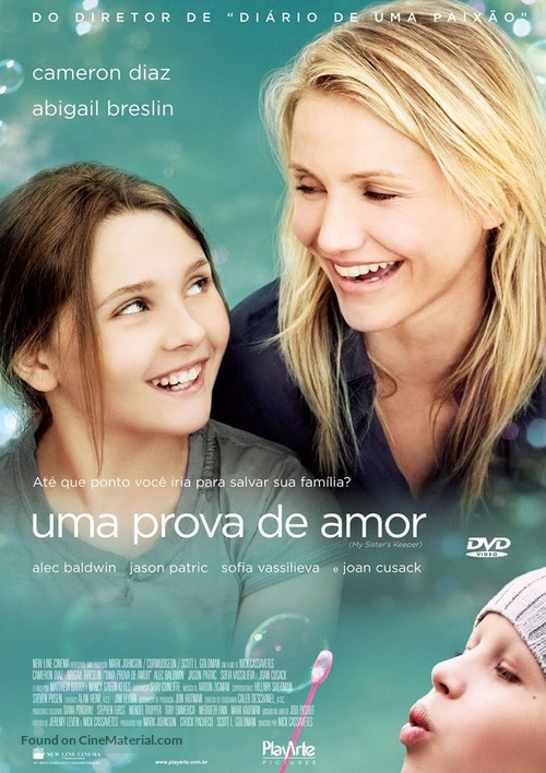 My Sister's Keeper - Brazilian DVD movie cover