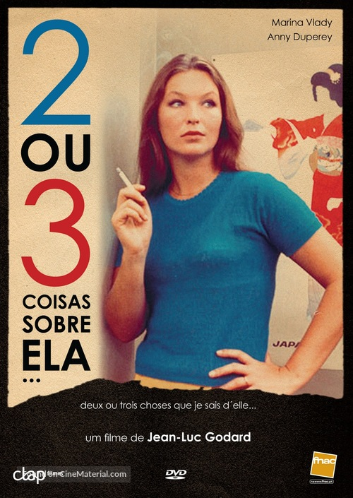 2 ou 3 choses que je sais d'elle - Portuguese DVD movie cover