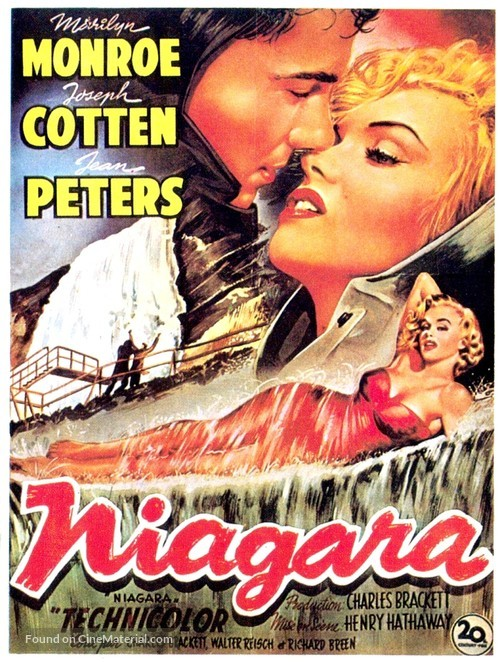 Niagara - Belgian Movie Poster