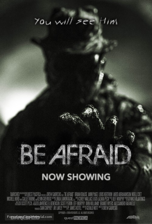 Be Afraid - Movie Poster