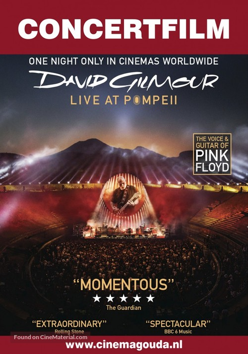 David Gilmour Live at Pompeii - Dutch Movie Poster