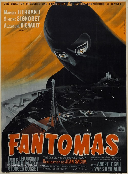 Fantômas - French Movie Poster