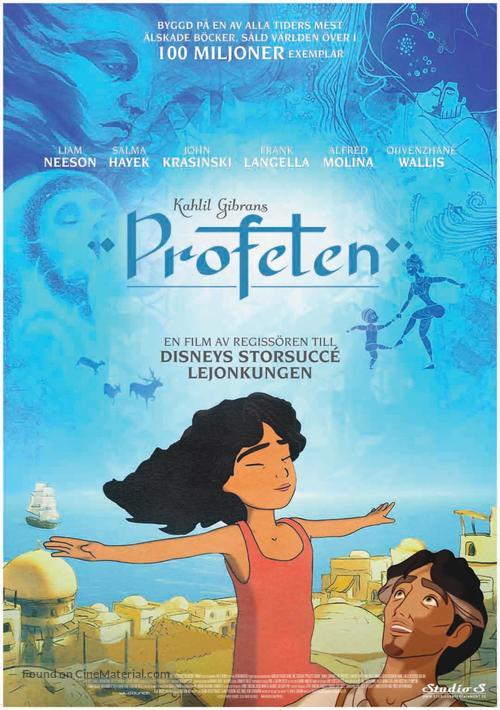 Kahlil Gibran's The Prophet - Swedish Movie Poster