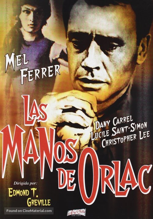 The Hands of Orlac - Spanish DVD movie cover
