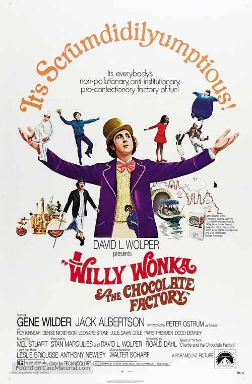 Willy Wonka & the Chocolate Factory - Movie Poster
