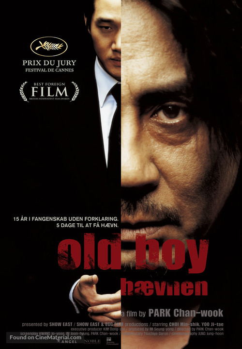 Oldboy - Danish Movie Poster