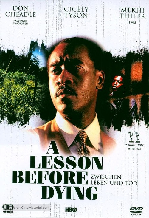 A Lesson Before Dying - German Movie Cover