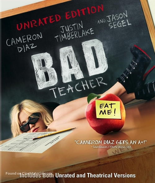 Bad Teacher - Blu-Ray movie cover