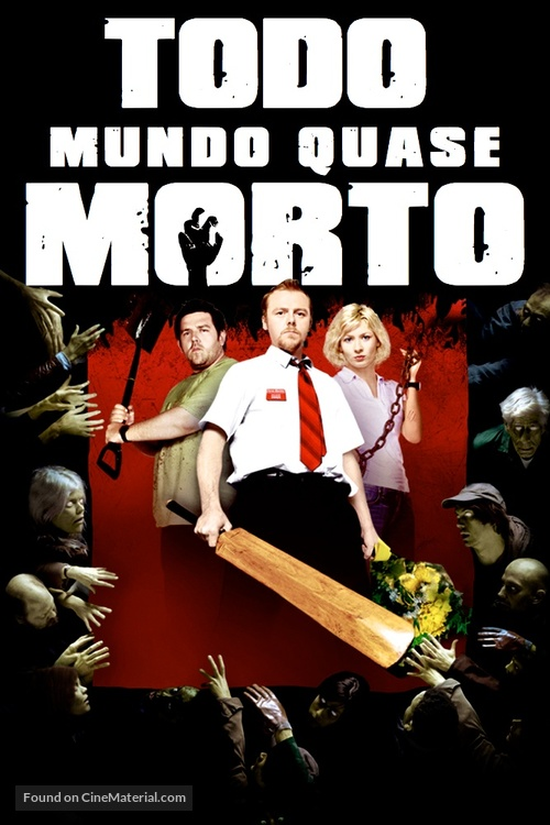 Shaun of the Dead - Brazilian DVD movie cover