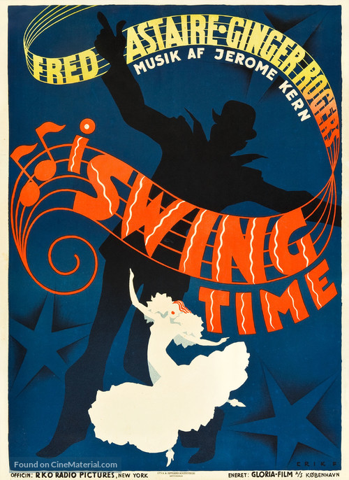 Swing Time - Danish Movie Poster