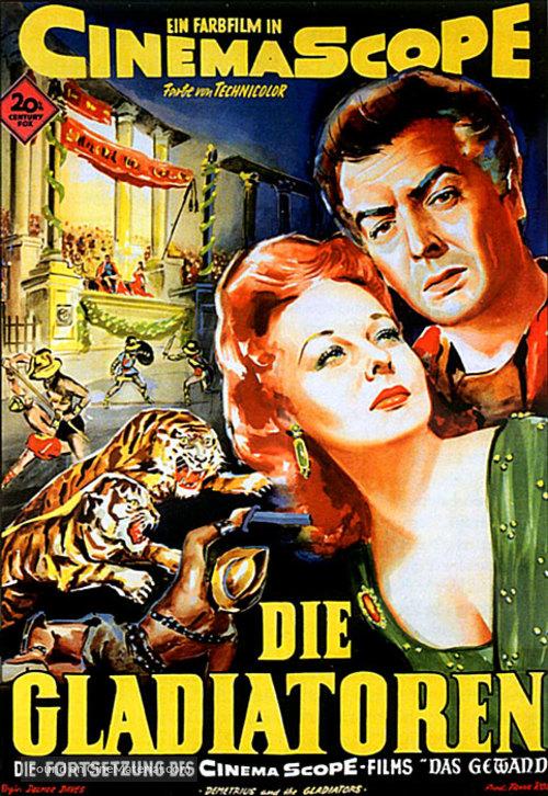 Demetrius and the Gladiators - German Movie Poster