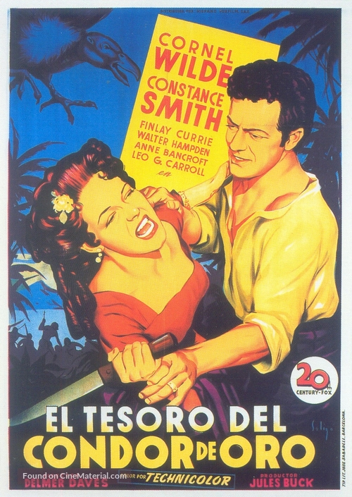 Treasure of the Golden Condor - Spanish Movie Poster