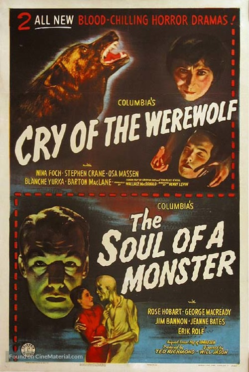Cry of the Werewolf - Combo movie poster