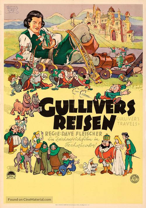 Gulliver's Travels - German Movie Poster