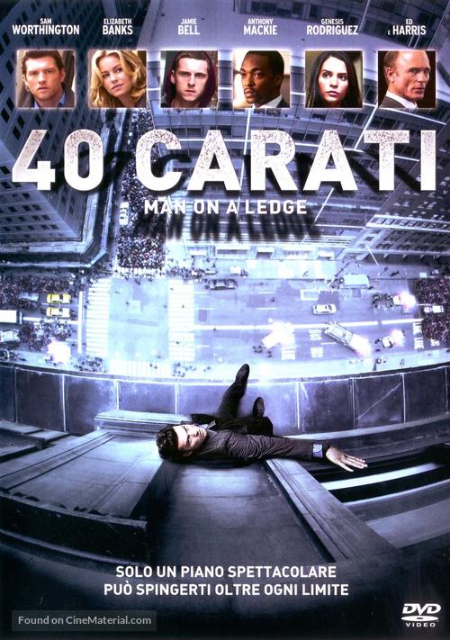 Man on a Ledge - Italian DVD cover