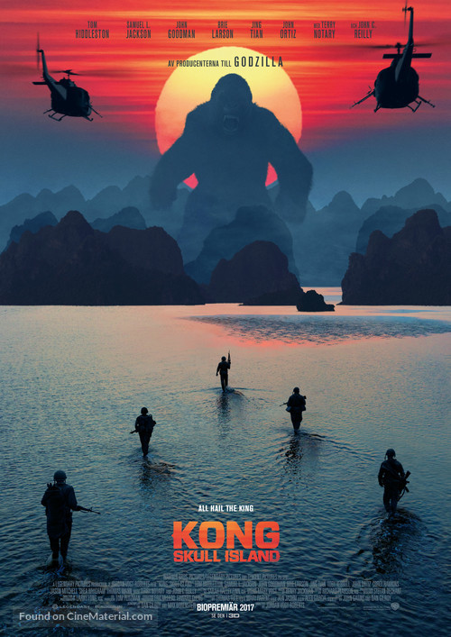 Kong: Skull Island - Swedish Movie Poster