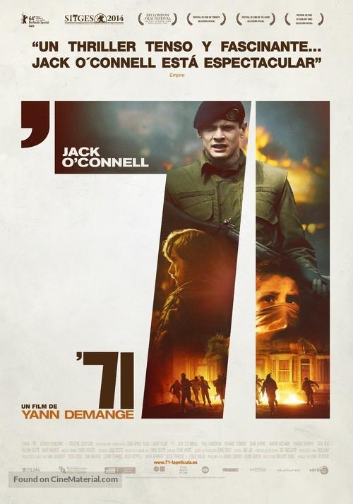 '71 - Spanish Movie Poster