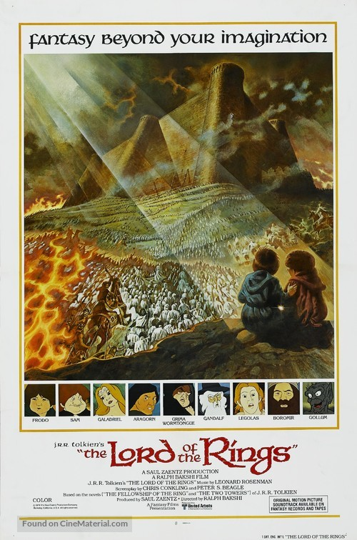 The Lord Of The Rings - Movie Poster