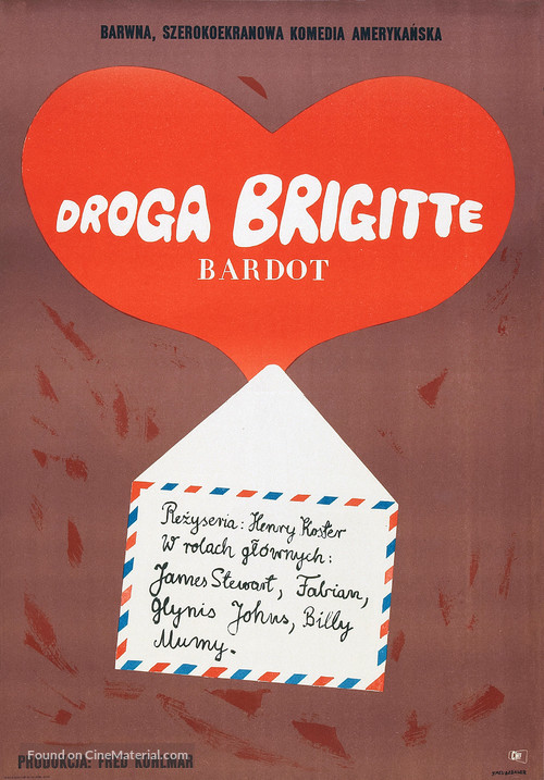 Dear Brigitte - Polish Movie Poster