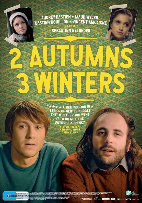 2 automnes 3 hivers - Australian Movie Poster