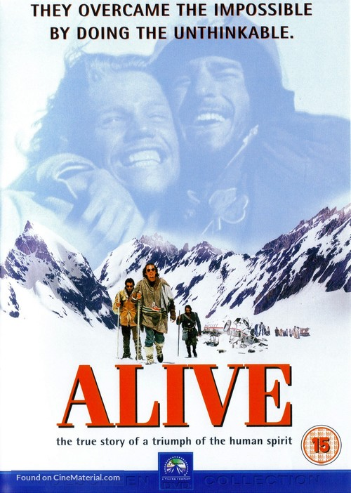 Alive - British DVD movie cover