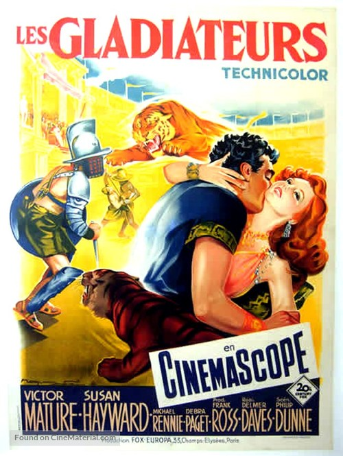 Demetrius and the Gladiators - French Movie Poster