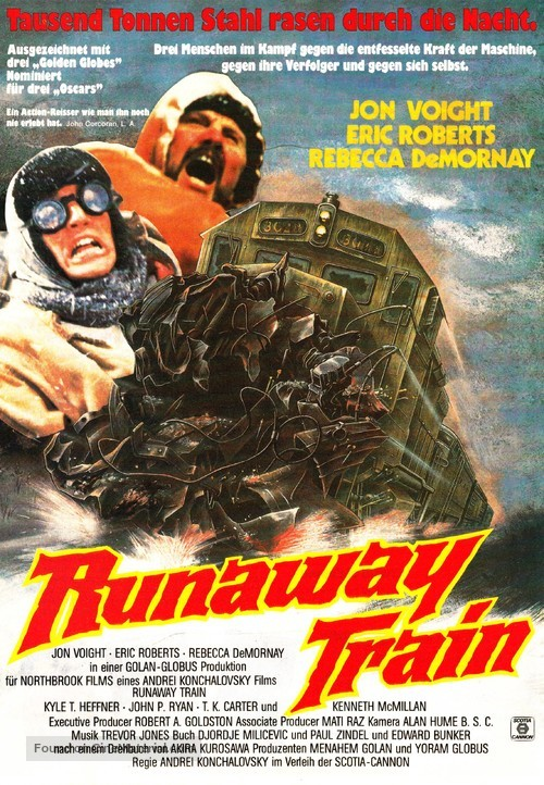 Runaway Train - German Movie Poster