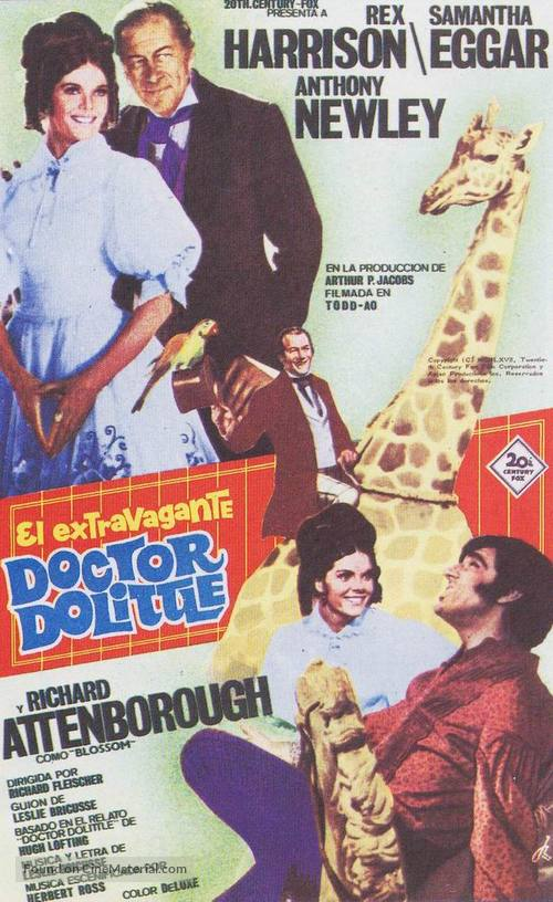 Doctor Dolittle - Spanish Movie Poster