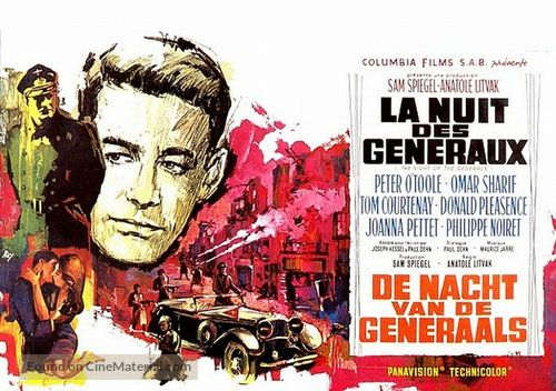 The Night of the Generals - Belgian Movie Poster