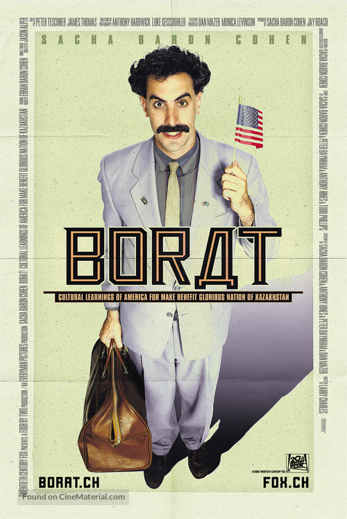 Borat: Cultural Learnings of America for Make Benefit Glorious Nation of Kazakhstan - Swiss Movie Poster