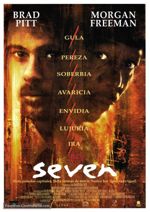 Se7en - Spanish Movie Poster