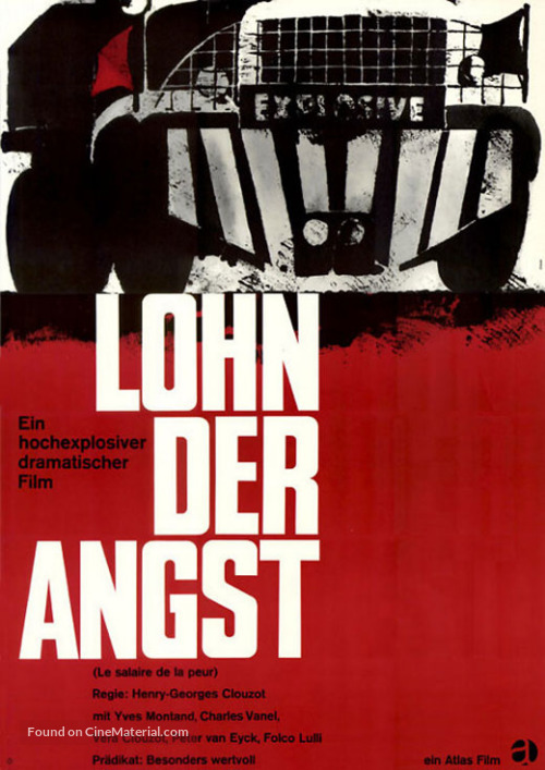 Le salaire de la peur - German Movie Poster