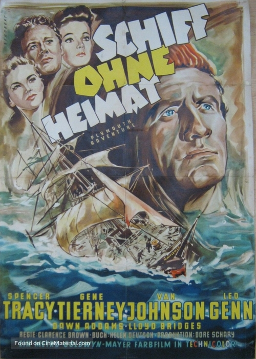 Plymouth Adventure - German Movie Poster