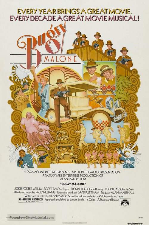 Bugsy Malone - Theatrical movie poster