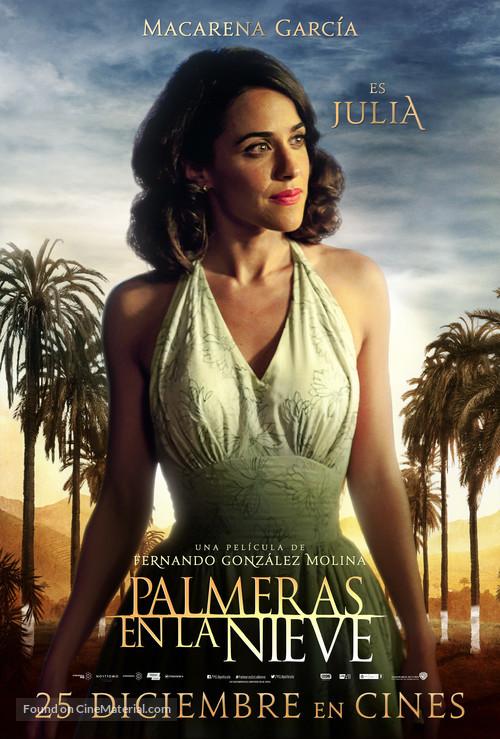 Palmeras en la nieve - Spanish Movie Poster
