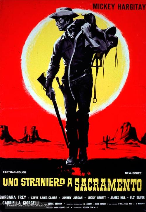 Uno straniero a Sacramento - Italian Movie Poster