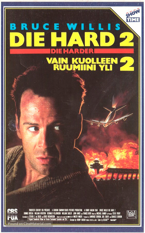 Die Hard 2 - Finnish VHS movie cover