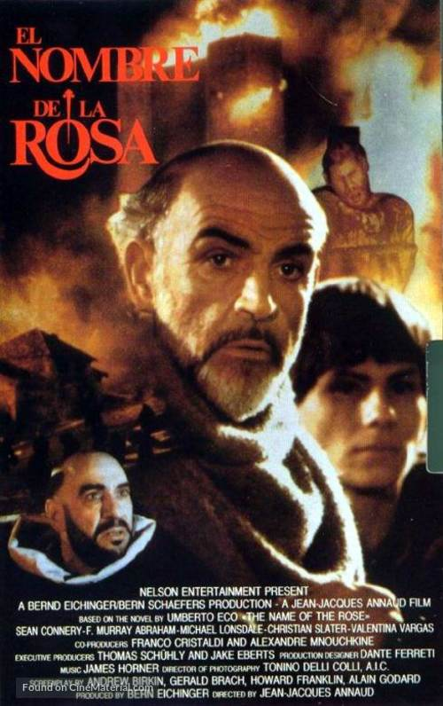 The Name of the Rose - Spanish Movie Poster