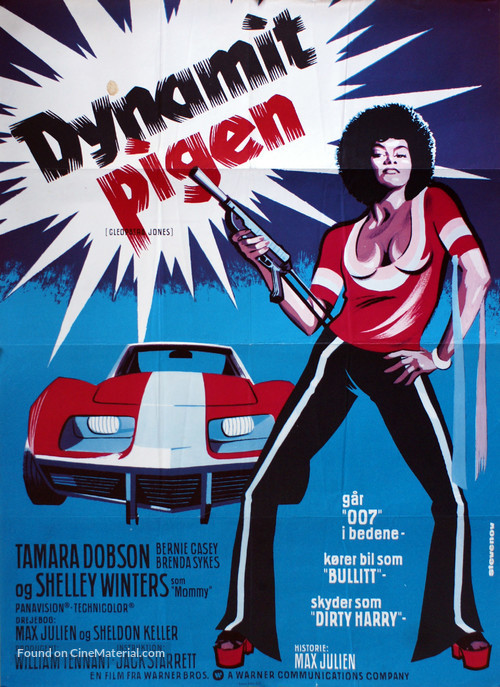 Cleopatra Jones 1973 Danish Movie Poster