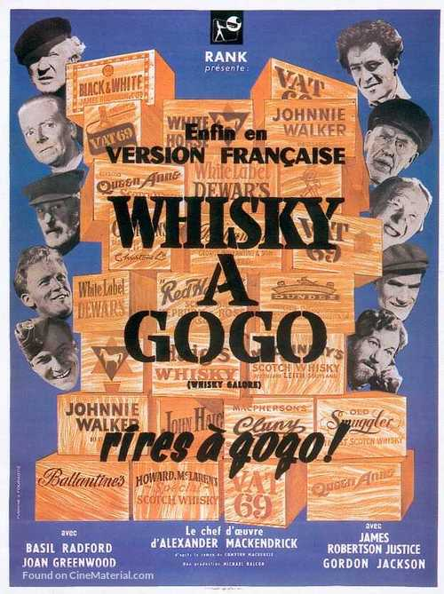Whisky Galore! - French Movie Poster