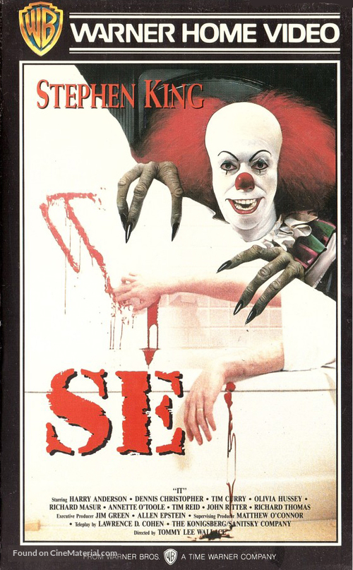"""It"" - Finnish VHS movie cover"