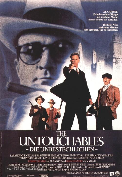 The Untouchables - German Movie Poster
