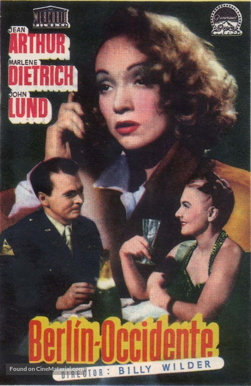 A Foreign Affair - Spanish Movie Poster