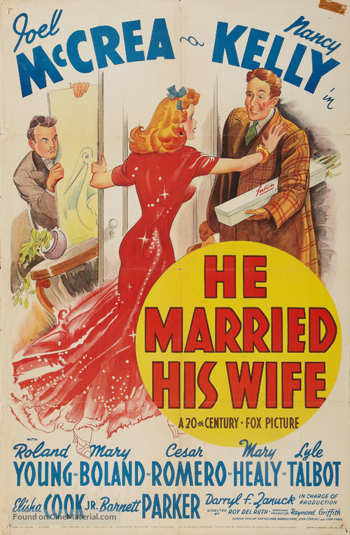 He Married His Wife - Movie Poster