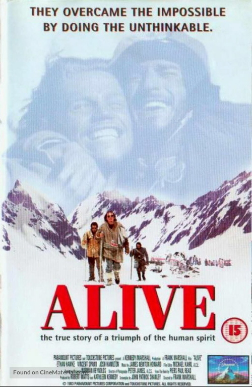 Alive - British VHS movie cover